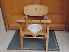 Ancienne chaise en bois pour Bébé avec pot d'aisance Vintage