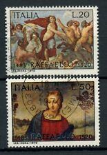 Italy 1970 SG#1253-4 Raphael, Paintings Used Set #A40366