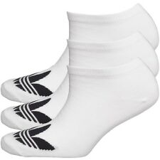 adidas Originals Womens Three Pack Trefoil  Socks White size 3-5 Eur 35-38