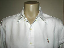 Mens $98.(S) POLO-RALPH LAUREN White Oxford Shirt (MID FIT)