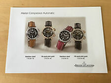 Used in shop - Press Release MASTER COMPRESSOR AUTOMATIC Jaeger-LeCoultre