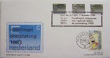 Stadspost Zaanstad 1983 - FDC Noodzegels Poststaking 1983 met zegel NVPH 1203