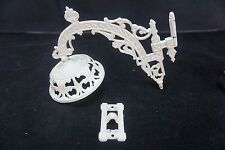 Antique Bradley&Hubbard Cast Iron Lamp Wall Bracket and Hanger B&H White 1881