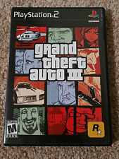 Grand Theft Auto III 3 (Sony PlayStation 2, 2001) PS2 Cmplt w/Manual & Pstr