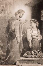 Lithographie Célestin Nanteuil, Christ ressuscité et Salomé ? XIX°