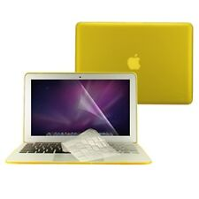 "3 in 1 Rubberized YELLOW Case for Macbook AIR 13"" A1369 + Key Cover + LCD Screen"