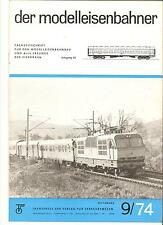DDR Zeitschrift Modelleisenbahn Der Modelleisenbahner Heft 9 September 1974