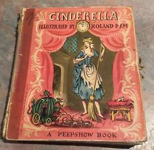 Vintage 1950 Cinderella Peepshow Pop-Up Book - Illustrated By Roland Pym
