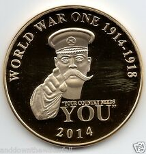 The Great World War I Gold Coin 100th Year Anniversary Militaria Medal Soldier