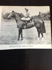 L1-3 Ephemera 1968 Small Picture Horse Racing Captain M D Lemos Petingo Piggott