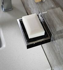 Bathroom Soap Dish Holder Dispensers Wall Mount Self Adhesive Stainless Steel