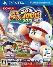Used PS Vita Jikkyou Powerful Pro Yakyuu 2012 Ketteiban Japan Import