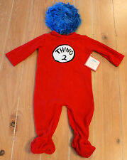 New Pottery Barn Kids Dr. Seuss THING 2 Costume Baby Infant Size 6-12 Months