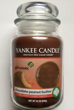YANKEE CANDLE GIRL SCOUTS CHOCOLATE PEANUT BUTTER COOKIE 22oz. JAR LTD EDITION