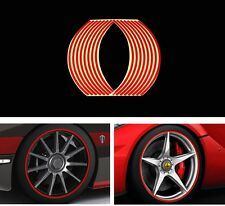 "16 Red 18"" Strips Car Wheel PVC Reflective Tape Rim Stripe Stickers Auto Decal"