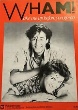 "WHAM!-GEORGE MICHAEL ""WAKE ME UP BEFORE YOU GO-GO"" PIANO/V/GUITAR SHEET MUSIC!!"