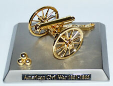 Civil War Desk Or Table Boxed Artillery Napoleon Cannon On Metal Base 11 x 9cms