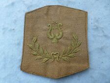 WWI Army Rank Insignia Chief Musician Summer Brown Cotton Sleeve Rating Rare