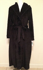 NEW Jones New York Intimates Animal Plush Oversize Collar Robe 1J172R L/XL Black