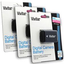 3x NP-FW50 Li-Ion Battery For Sony A6300 A6000 A5100 A5000 A3000 A7 A7S A7R II