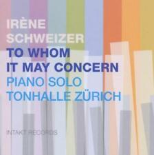 To Whom May Concern - Irene Schweizer (2014, CD NEU)