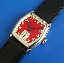 Stunning Antique 1920s Mans ELGIN *USA* Hand Winding Red Tone Dial SERVICED