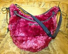 "NWOT RARE DIESEL PINK BAD HAIR DAY FAUX FUR EXTRA LRG TOTE BAG 18""H X 17.5""L TOP"