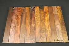 """COCOBOLO LUMBER  1 1/2"""" x 12""""  TURNING STOCK CUES CALLS SCALES FLUTES PENS"""