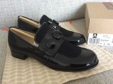 Orla Kiely Clarks Vintage, Retro, Dora Black Leather Shoes In Size 8, EUR 42