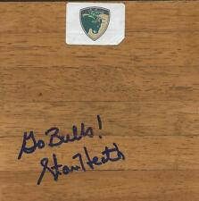 Coach Stan Heath Signed 6x6 Floorboard South Florida Go Bulls Inscription