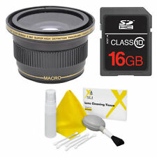 55MM X38 FISHEYE WIDE ANGLE LENS + MACRO LENS +16GB FOR NIKON D3400 D5600