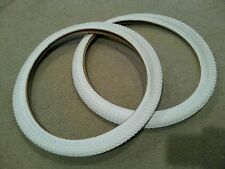 "2 NEW DURO BICYCLE TIRES BMX,20""X1.75"" WHITE"