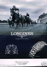 Publicité advertising 2015 La Montre Longines DolceVita Prix de Diane