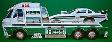 2016 HESS TOY Flatbed TRUCK & DRAGSTER Car w Wheelie Lights & Sound w Batteries!