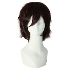 Hot Men's Short Brown Wig Party Dress Almighty Costume Cosplay Wigs Styling