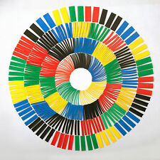 Jumbo Set of 520 Pcs Heat Shrink Tube Sleeve 10 Sizes 5 Colors Polyolefin 2:1