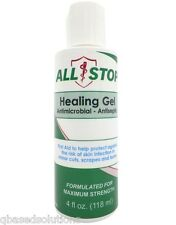 AllStop Healing Antiseptic Skin Gel 4oz First Aid,Bug Bites,Cuts,Scrapes,Burns