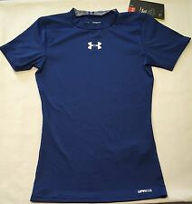 NWT youth Boys' small UNDER ARMOUR baselayer ANTI-ODOR fitted compression shirt