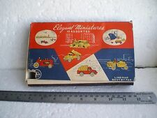 SHOP COUNTER BOX CONTAINING 8 MINIATURES MODELS (MATCHBOX COPIES) BY LINEMAR