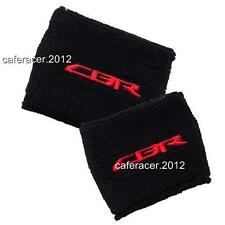HONDA CBR BRAKE/CLUTCH RESERVOIR SOCKS FLUID TANK CUP COVER BLACK SET 1000RR 600
