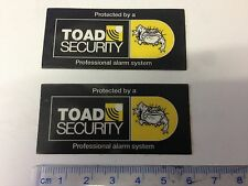 NEW Toad ai606 Car Alarm Window replacement Stickers x 2  (New 2016/17 style)