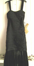 BNWT - LADIES LOVELY LONG BLACK EVENING DRESS BY LIGHT IN THE BOX - SIZE 10-12