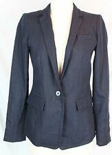 J.Crew $178 Women's Regent Blazer Linen Navy Blue 0 XS Extra Small Career B8430