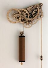 Abong DIY Laser Cut Wooden Wheeled Mechanical Pendulum Handcrafted Clock Kit
