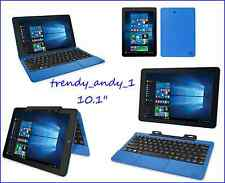 "PC Laptop Tablet Cambio 10.1"" 2-in-1 32GB Intel Quad Core Webcam Windows 10"
