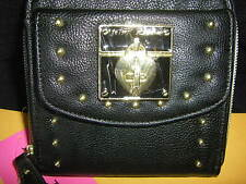 """NWT Betsey Johnson Wallet """"Wrap Party"""" Black French Flap Turnlock Compare @ $58"""