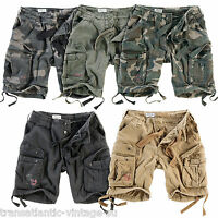 SURPLUS AIRBORNE CARGO SHORTS MENS ARMY VINTAGE COMBAT WORK WEAR KNEE LENGTH