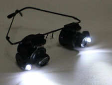 LED Light 20X Glasses Loupe FOR Watch Repair Magnifier Magnification