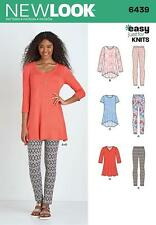 NEW LOOK SEWING PATTERN MISSES' KNIT TUNIC & LEGGINGS SIZE XS - XL  6439