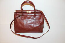 TRUE VTG VINTAGE LEDER Henkeltasche Leather SATCHEL BAG Hebammentasche TASCHE